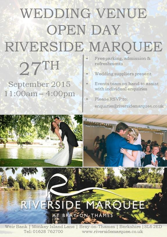 Wedding Open Day 27th Septeber 2015