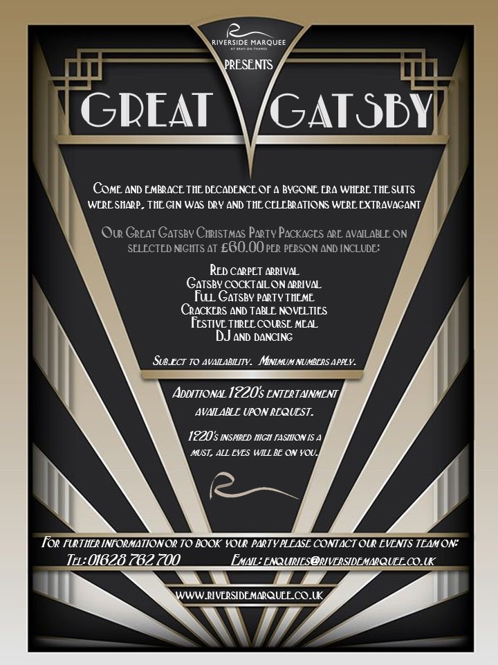 Great Gatsby Christmas Party Package