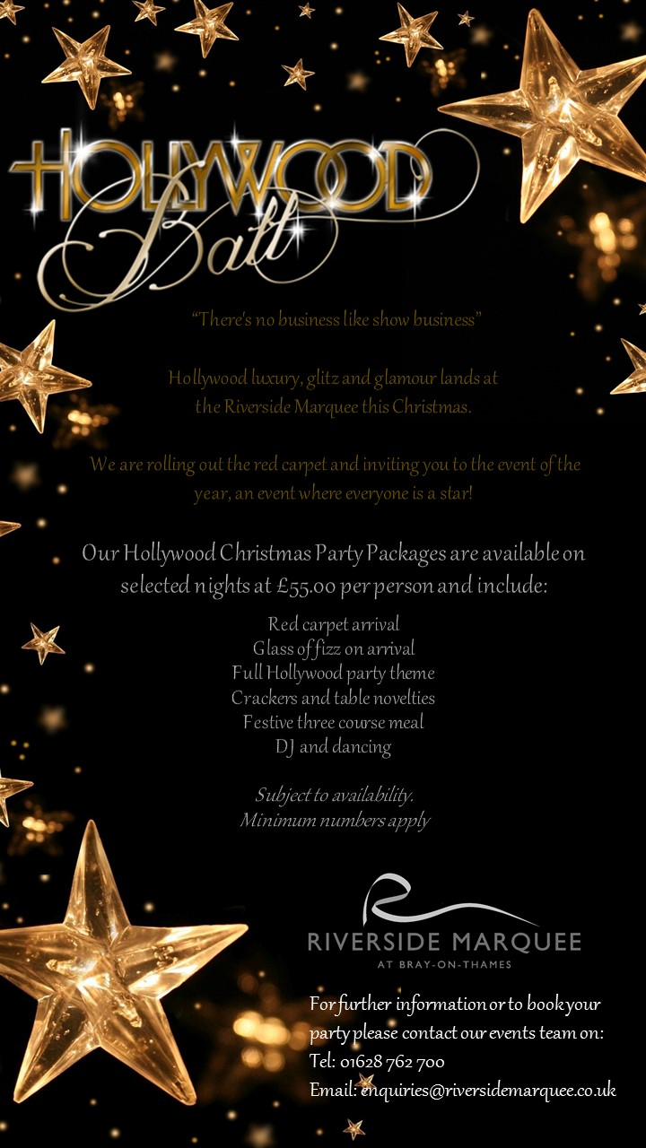 Christmas 2017 – Hollywood Christmas party packages now available!